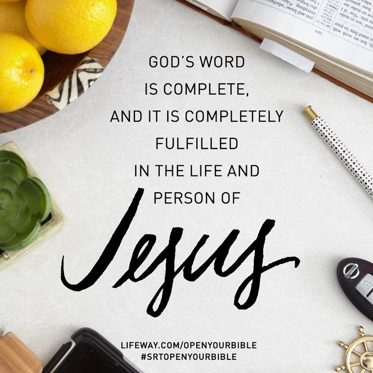 God's Word is complete and it is completely fulfilled in the life and person of JESUS ‪#‎SRTOpenYourBible‬ Release date is Nov 2. Lifeway.com/OpenYourBible @lifewaywomen @shereadstruth