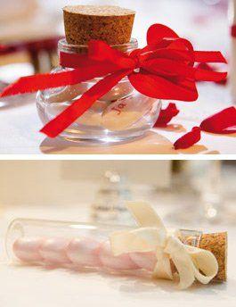 Hochzeitsmandeln und Schokodragees als Gastgeschenke zur Hochzeit