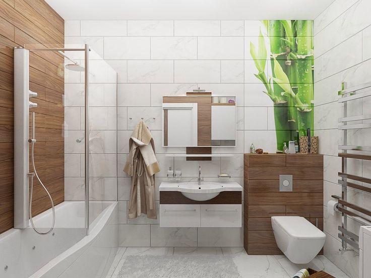 Ванная комната в эко стиле   Достала городская обыденность, бетонные стены…