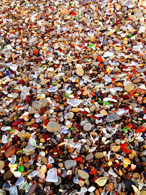 Glass Beach in California. | Stunning Places #Places