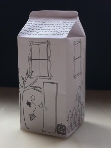 house milk carton. Good for helping them remember their address.