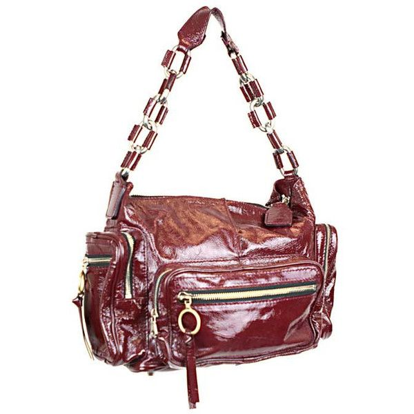 chloe purse - Chloe Pre-owned Chloe Oxblood Patent Shoulder Bag (480 CAD ...
