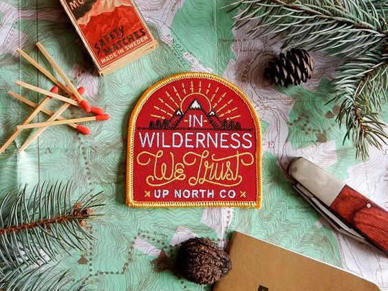 In Wilderness We Trust Patch by Jim DiGiovanni, via From up North