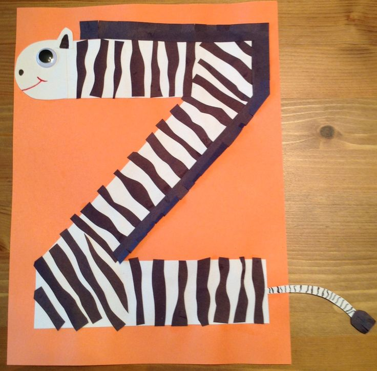 Permalink to Z Is For Zebra Preschool Craft