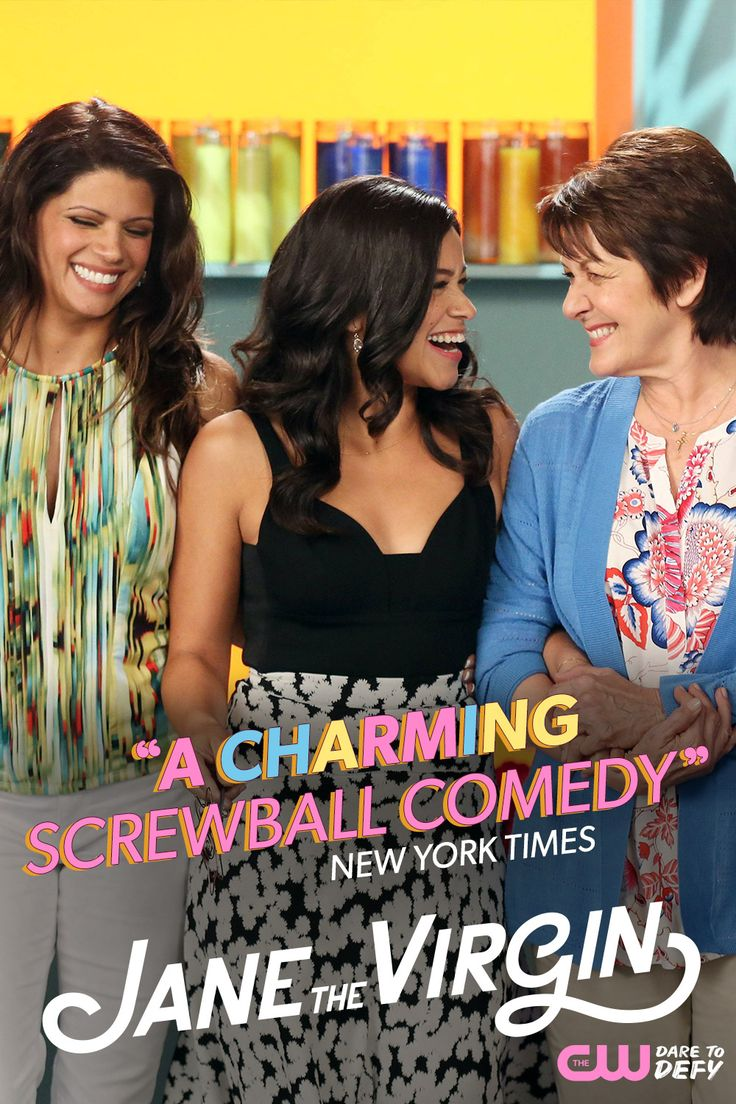 """The New York Times calls it """"a charming screwball comedy,"""" and now it's back for a new hilarious and heartwarming season! See what everyone is raving about when Jane The Virgin premieres Monday, October 12, 2015 at 9/8c on The CW."""