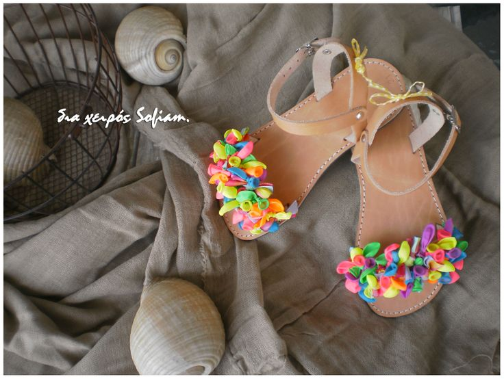14.020 leather sandals balloon for little girls