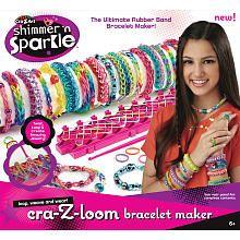 Shimmer n Sparkle Cra-Z-Loom Rubber Band Bracelet Maker: Gift, Crazart, Bracelets Maker, Cra Z Art Shimmer, Rubber Bands Bracelets, Toys, Crazloom, Sparkle Cra Z Loom, Cra Z Loom Bracelets