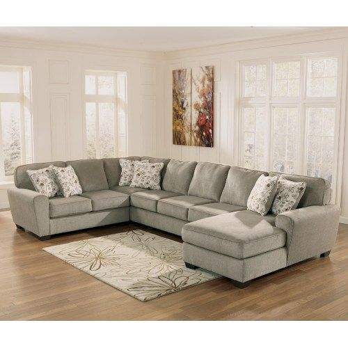 shop for the ashley furniture patola park patina sectional with right chaise at miskelly furniture your jackson mississippi furniture u0026 mattress store