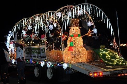 Our float for Cal-Green Recycling in the Turlock Christmas Parade 2012.  All lights and items that made up our float are reused, refurbished and recycled.  No new items were used on our float.