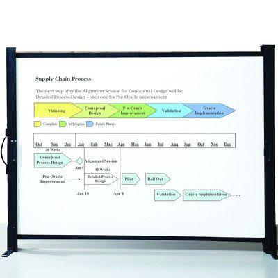 """Quartet Matte White Portable Projection Screen Size: 40"""""""