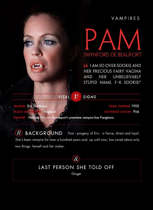 Pam- for the people who read the Sookie books- this would be Bill's secret Vampire Yearbook thing haha
