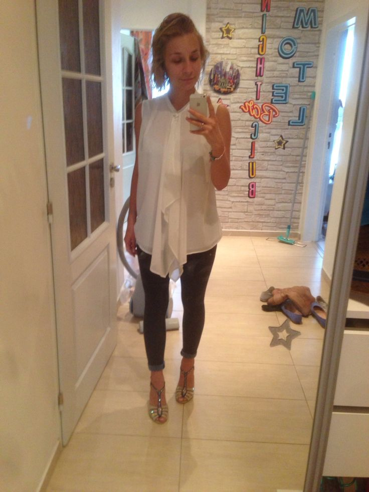 Date outfit  #baťa shoes  #calzedonia jeans legins  #promod shirt