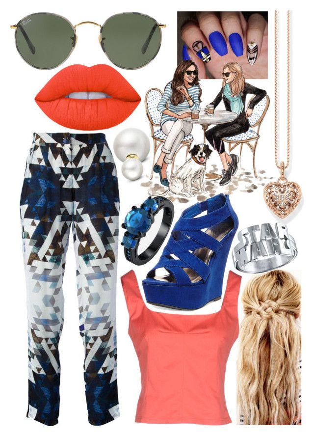 """""""Geomatte"""" by blom-sofie on Polyvore featuring Perfection Beauty, 2nd Day, Thomas Sabo, Ray-Ban, Madden Girl and Allurez"""