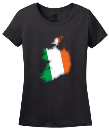Ireland Flag Map   Women's T-Shirt #annarbortees #stpatricksday #irish #shirts #womens
