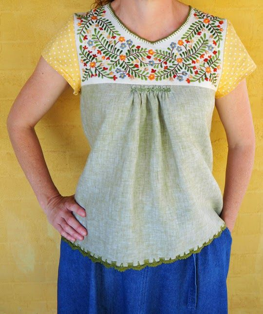 Stitch and Yarn :: My textile year in review – 2014 Mexican blouse, Oaxaca-style, San Antonino Castillo Velasco