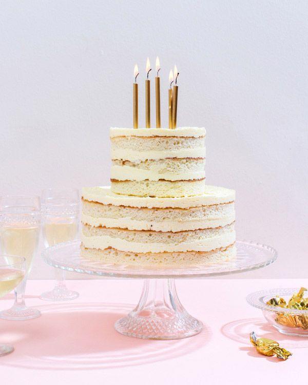 cute exposed layer birthday cake
