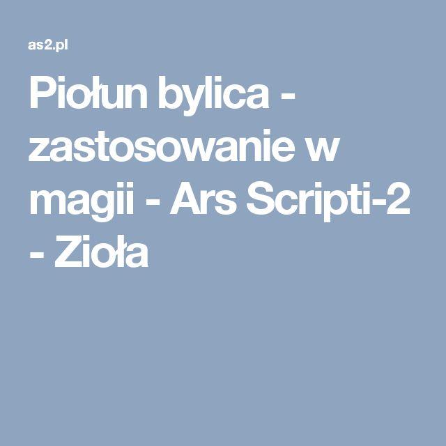 Piołun bylica - zastosowanie w magii - Ars Scripti-2 - Zioła