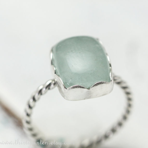 Aquamarine and Sterling Ring by ThirtySixTen on Etsy, $48.00: Hot Stuff, 48 00, Accessories Lovin, 4800, Sterling Rings, Jewelry Accessories, Jewelry Rings, Things Aquamarines, Etsy Jewellery