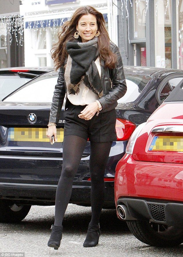 Lengthy legs:Melanie Sykes would not let the plummeting winter temperatures prevent her from showing off her gym-honed frame as she rocked skimpy hot-pants during a day out in London on Thursday