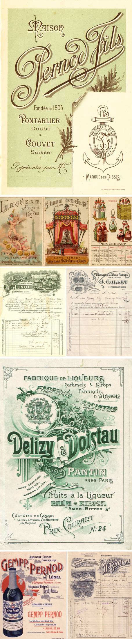 Absinthe labels