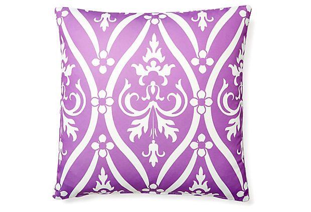 Murano 20x20 Outdoor Pillow, Purple on OneKingsLane.com