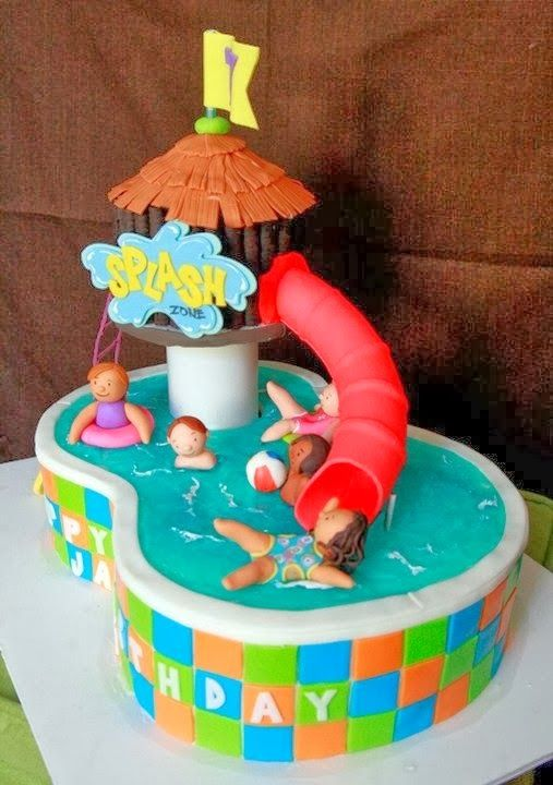 Cake Decorations For Pool Party : Swimming Party! Cakes Pinterest