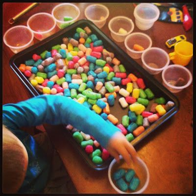 nauka koloró z PlayMais :)