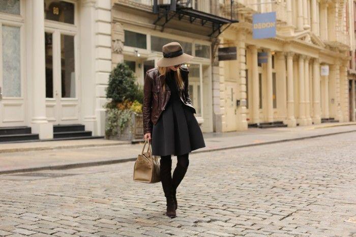 Neoprene has never looked so chic. Blair Eadie of blog Atlantic-Pacific on the street in Tibi's neoprene sleeveless dress.