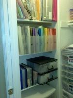 Coat Closet Turned Scrapbook Closet: Organizations Ideas, Closet Turning, Coat Closet, Decorating Organizations, Organizations Rooms, Cleaning Organizations, Scrapbook Closet, Coats Closet, Scraproom Organization