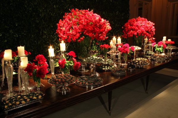 decoracao casamento vermelho preto disegno ambientes leopolldo More