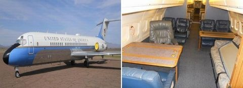 Government DC-9 used as Air Force One/Two for auction