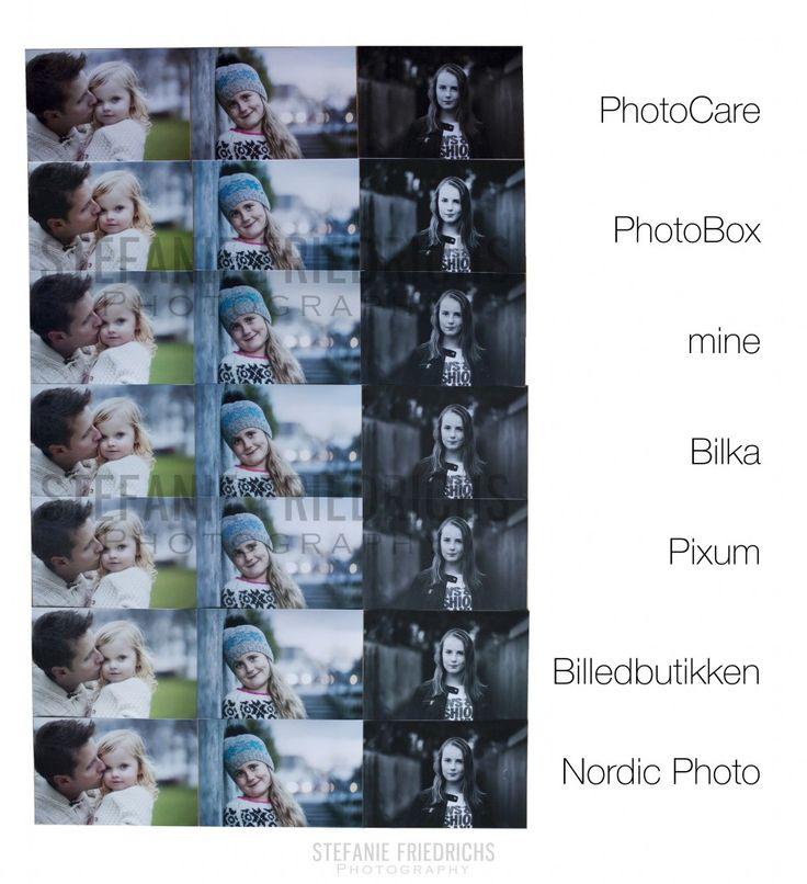 Siden jeg har indført digitale kollektioner hvor man kan få alle sine billeder med på et USB-stik, sælger jeg dog flere og flere filer. Det giver mulighed for selv at kunne printe billederne eller at få dem fremkaldt hos en af de mange fotobutikker eller udbydere online.  For at kunne give en anbefaling mht. hvor i kan få jeres billeder fremkaldt henne, har jeg testet forskellige steder og sammenlignet printene.