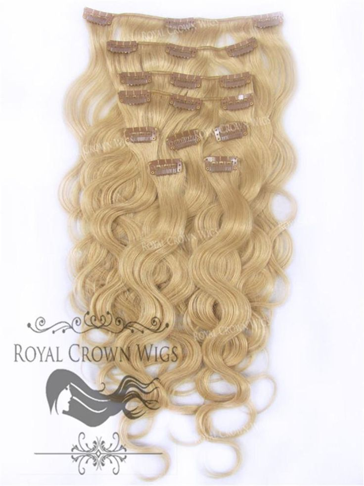 Brazilian 9 Piece Body Wave Human Hair Weft Clip-In Extensions in #24