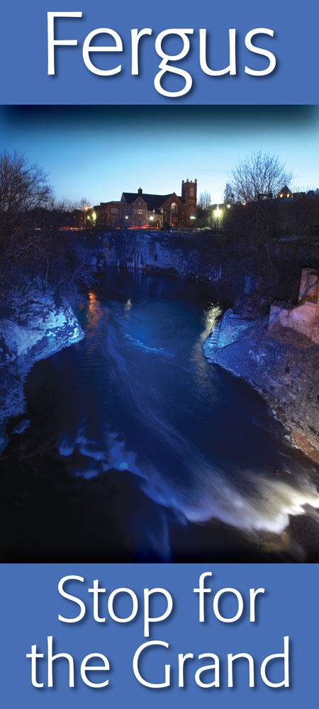 The Grand River in Downtown Fergus at night ...  https://www.facebook.com/pages/Downtown-Fergus/117343701609424