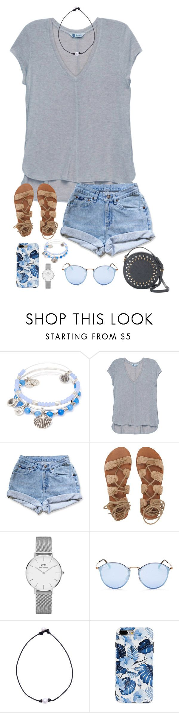 Untitled #229 by borinkenm on Polyvore featuring Bobeau, Levi's, Billabong, Olivia Miller, Alex and Ani, Daniel Wellington and Ray-Ban