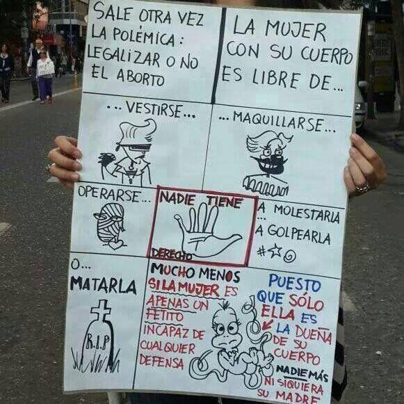 Abrto ilegal.  #NADIEMENOS