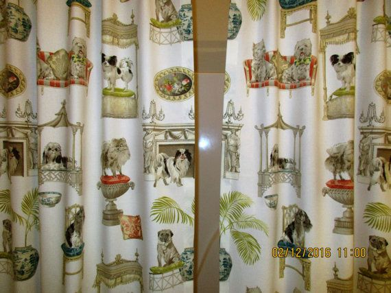 Split/Panel Bath Shower Curtain Extra Long Reg. by WindowToppings