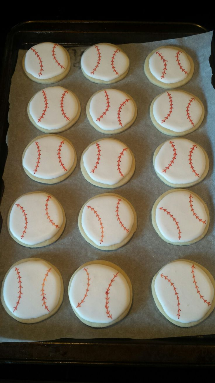 Baseball tournament cookies