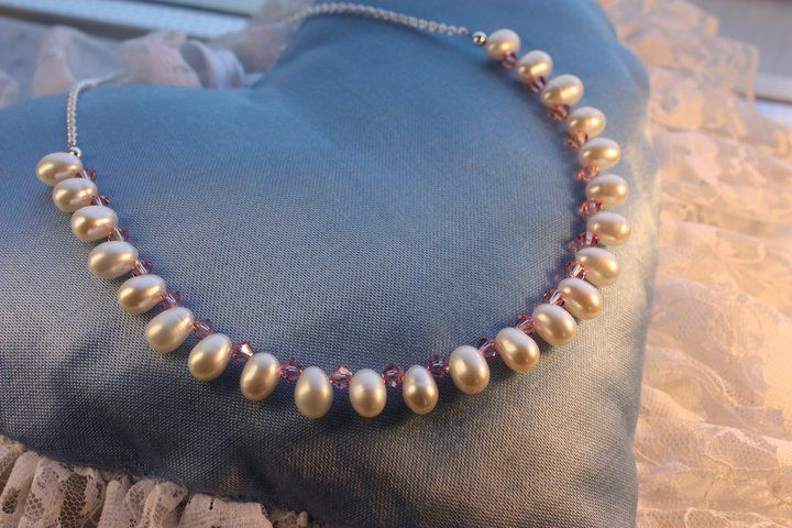 Bridal Jewelry. Freshwater Pearls. Handmade by Goldsmith Sanna Hytönen, Finland http://www.kultaseppasannahytonen.com/