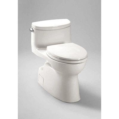 Toto Carolina II High Efficiency 1.28 GPF Elongated 1 Piece Toilet with Sanagloss & Reviews | Wayfair
