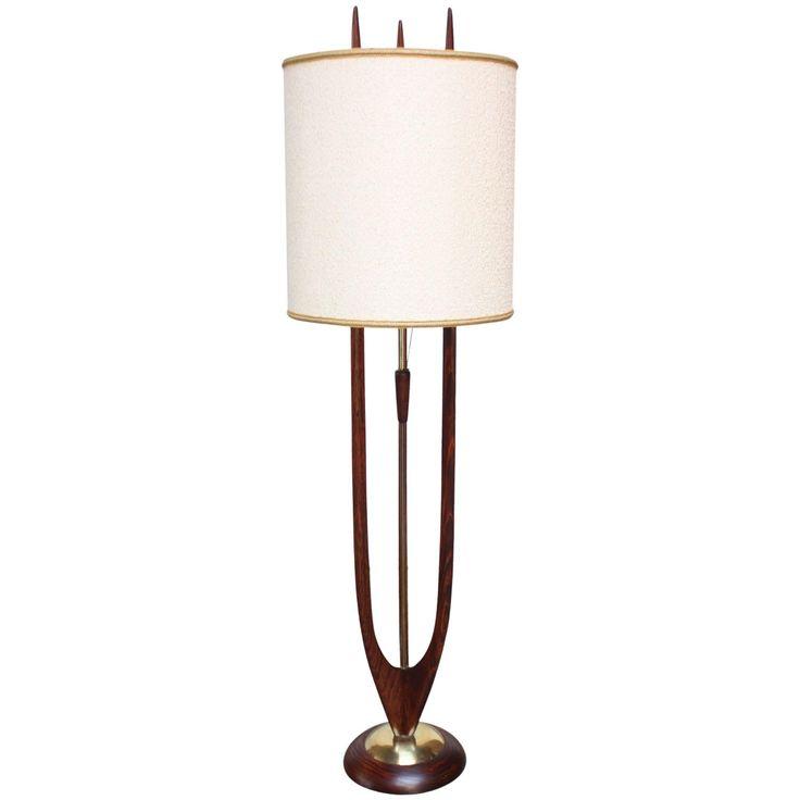 Melrose Mid Century Brass White Shade Floor Lamp: 114 Best Images About Teak MCM Lamps On Pinterest