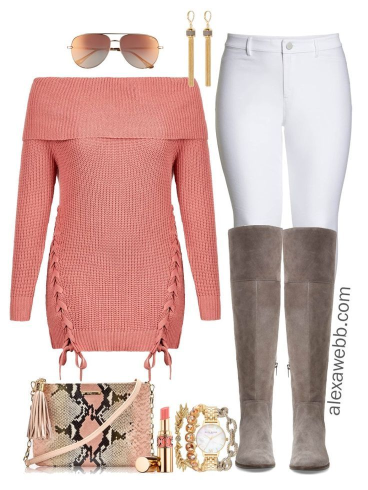 Plus Size Tunic Sweater Outfit 3