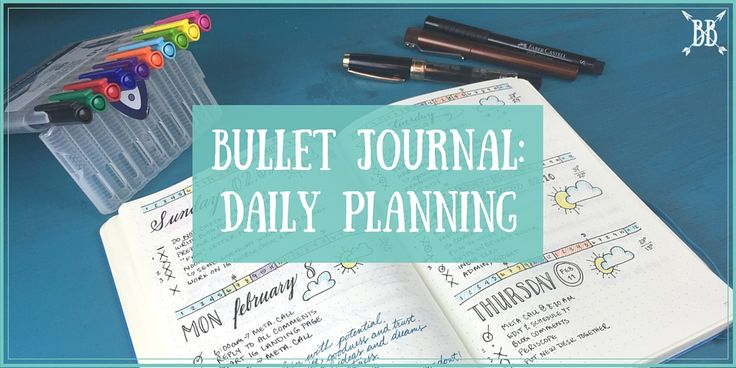 Bullet Journal- Daily Planning