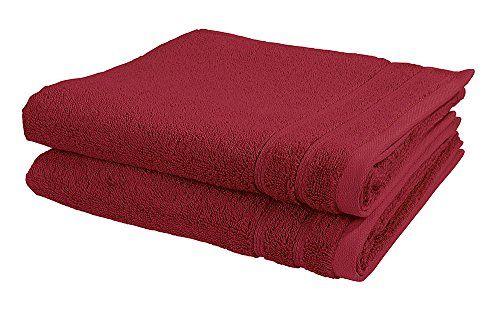 Vossen Handtuch Set 2-tlg. New Generation 100% Baumwolle 2 Badet�cher 50 x 100 cm, rot