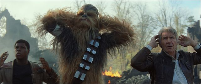 Star Wars - Le Réveil de la Force : Photo Harrison Ford, John Boyega, Peter Mayhew
