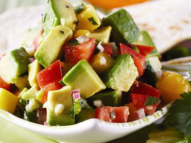 Hass Avocado and Mango Salsa from ivillage.com: Avocado Mango Salsa, Avocado Recipes, Avocado Salsa, Avocado Salad, Summer Salsa, Yummy Recipes, Mango Avocado, Hass Avocado, Mango Salad
