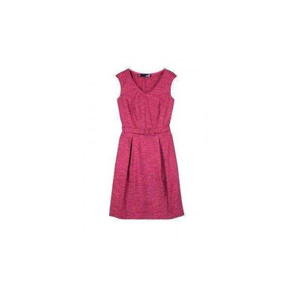 Love Moschino Fuchsia Summer Tweed Belted Shift Dress ($231) ❤ liked on Polyvore featuring dresses, women's dresses & skirts, womenswear, fitted shift dress, belted summer dresses, purple shift dress, fuschia dresses and summer dresses