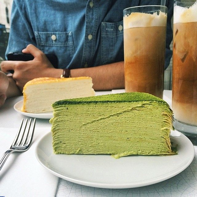 Green Tea Mille Crepes Cake Lady M Cake Boutique - UES