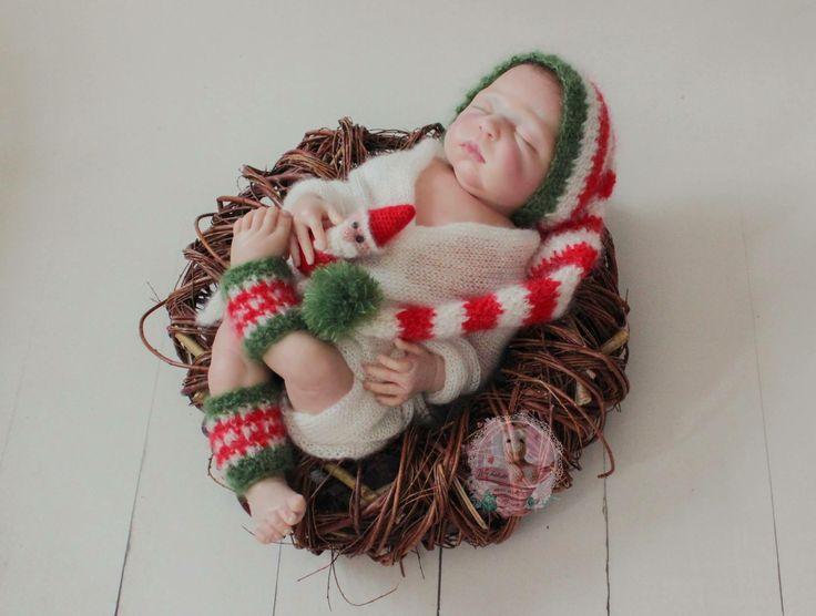 Weihnachtsset aus Mohair & Seide
