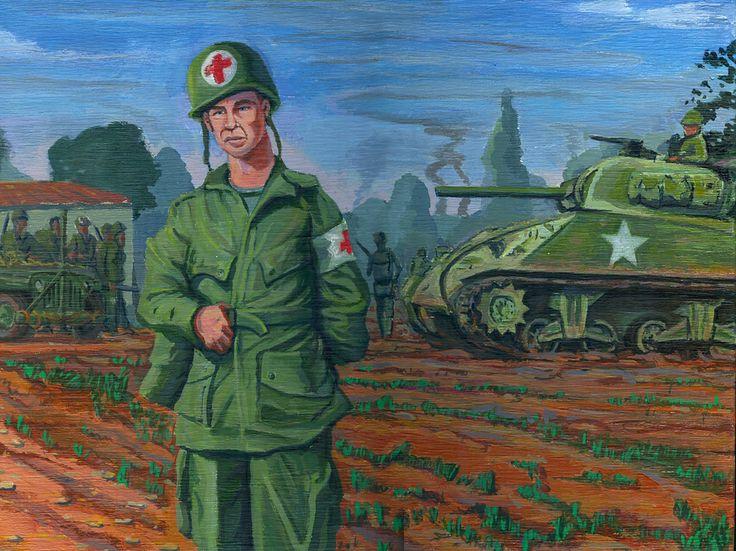 Portrait Pfc Ed Pepping, Normandy June 1944